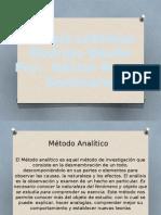 Métodos de Investigación. Analitico