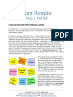 Facilitation and Strategic Planning by Tom Romito, Facilitator