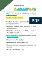 Apuntes Tioacidos y Peroxoacidos Ternarios Laboratorio Q3 Semana Del 24 Al 28 de Marzo 2014