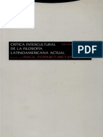 Crítica Intercultural de La Filosofía Latinoamericana Actual - Rául Fornet-Betancourt