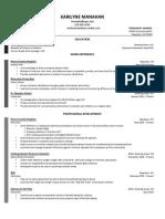 karilyne manahan resume