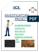 physics investigatory project