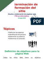 C.determinar Los Objetivos Del Sitio Web