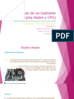 Partes Internas de Un Gabinete (Tarjeta Madre y CPU)