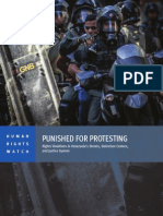 Punished for Protesting - Rights Violations in Venezuela's Streets, Detention Centers & Justice System- Human Rights Watch 5 May 2014