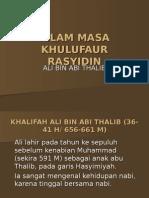 7islam Masa Khulufaur Rasyidin Ali