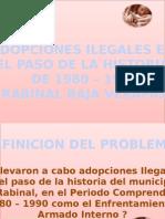 Presentacion de SEMINARIO de Las Adopciones Ilegales