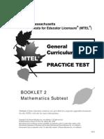 Mathematics Subtest