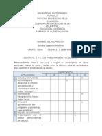 Formato de Autoevaluacion Sesion 1 y 2. Sandra Calderon