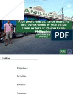 Rice preferences, price margins and constraints of rice value chain actors in Nueva Ecija, Philippines