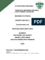 Practica 1 . Transformador Maquinas ELectrica