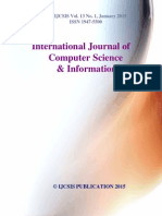 Journal of Computer Science IJCSIS Vol. 13 No. 1 January 2015