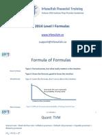 CFA Level I Formula Sheet