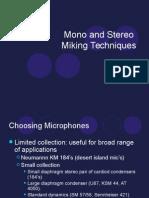 Mono Stereo Mic Techs