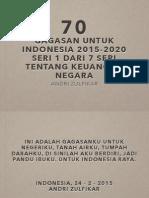 70 gagasan untuk indonesia seri 1