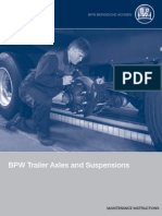BPW Trailer Axles and Suspensions maintenance instructions