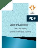 Design for Sustainability- 201382004-DAVID E