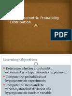 Hypergeometric Probability Distribution