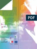 Programa de Semana de La Mujer 2015 Coslada