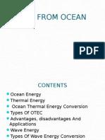 Energy From Ocean