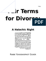Fair Terms for Divorce
