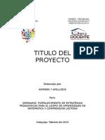 1 - Plantilla Para Presentar El PROYECTO de INNOVACIu00D3N