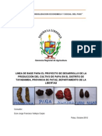 Linea de Base Para Productores de Papa Del Distrito de Tayabamba Departamento La Libertad