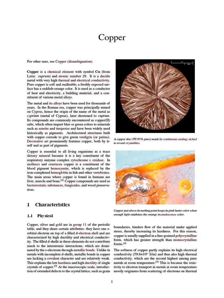 Copper Bronze Age Copper