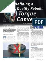 Quality Rebuilt Torque Converter