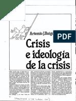 1980 Baigorri Crisis e Ideologia de La Crisis (Transición)