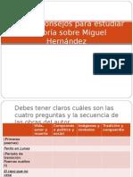 Algunos Consejos Para Estudiar La Teoría Sobre Miguel Hernandez
