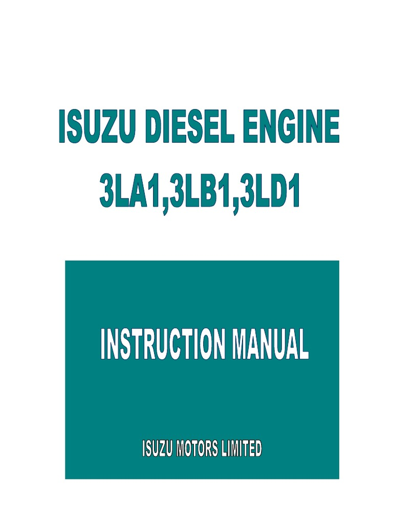 3LA1 3LB1 3LD1 Instruction Manual | Machines | EnginesScribd