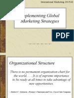 Implementig Global Marketin Strategies