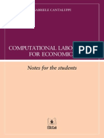 COMPUTATIONAL LABORATORY FOR ECONOMICS