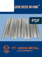 Brosur Floor Deck W-1000 - Union Metal - 2013