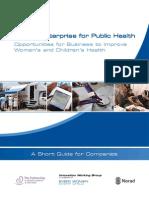 Private Enterprise for Public Health Guide