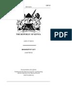 Kenyan Bankruptcy Act 32 Of 1930