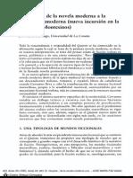 Novela Postmoderna y Clasica