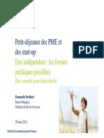 Deloitte.emmanuelle Brulhart.30.03.2012 - Formes Juridiques d'Entreprises