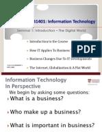AB1401 2012S1 Seminar 1 Lecture