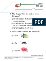 Animalsk-2 Unit Quiz
