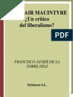 De La Torre, Alasdair Macintyre, Un Crítico Del Liberalismo (2008)