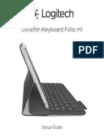 Ultrathin Keyboard Folio m1 Setup Guide