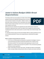 India Union Budget 2015 - Great Expectations