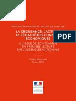 Dossier de presse - Projet de loi pour la croissance et l'activité