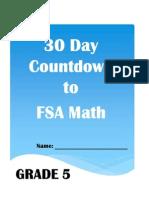 30 day countdown to math fsa- grade 5