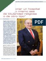 Entrevista Vicente Rodríguez-Mora, gerente del Grupo Hospitales Católicos de Madrid