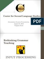 Apresentação em PPT sobre Teaching Gramma
