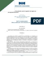 Ley 44x2007 Regimen Empresas de Inserción