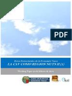 Retos Estructurales de la Economia Vasca. LA CAV COMO REGION NUTS 2 (1)